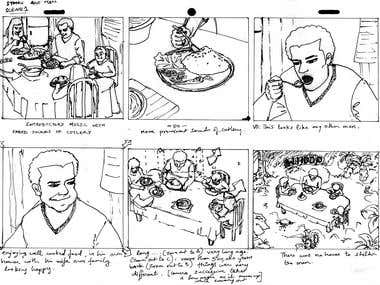 StoryBoard - Preproduction work