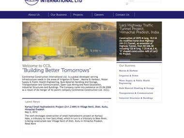 Continental Construction international Ltd. | WordPress Site