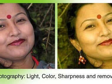 Photo enhance and editing
