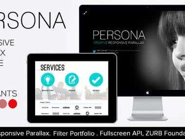 PERSONA - Responsive HTML5 Parallax Premium Theme