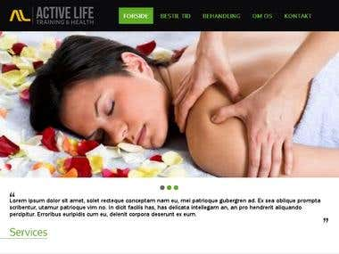 Activelife PSD to Wordpress Project