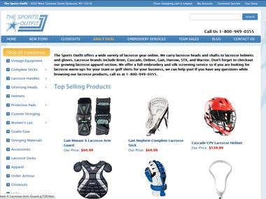The Sports Outfit an online Sports Store in Magento