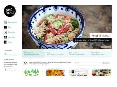 Foodsense.com HTML5/CSS3 based website