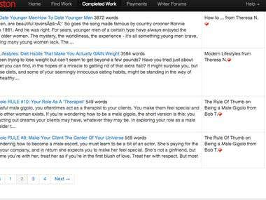 Media Piston Client Completed Article Ratings