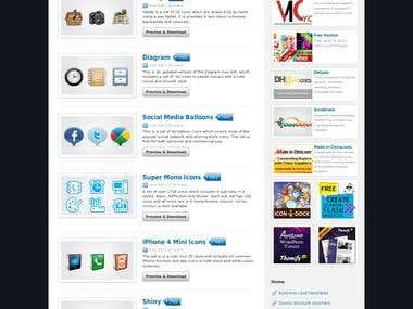 Web portal for wordpress template
