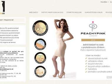 Fashion and underwear corporate identity, webpage and e-shop