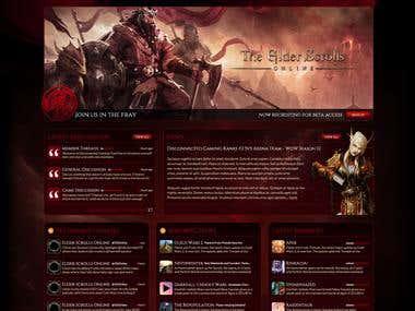 Disconnected Gaming - Website Design