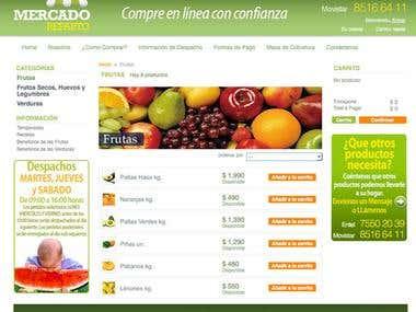 Web + Logo design Marcado Reparto