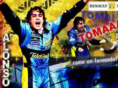 ALONSO poster