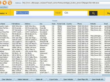 Yellow Pages USA - Restaurants Sample