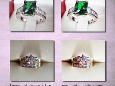 Jewelry Retouch, Image Enhancement