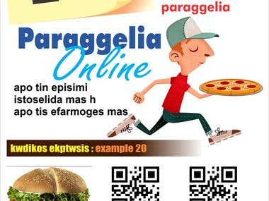 Flyer Design for Online Food Delivery Services