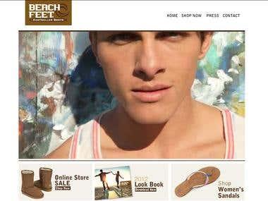 Beachfeet is an online footwear store in Opencart