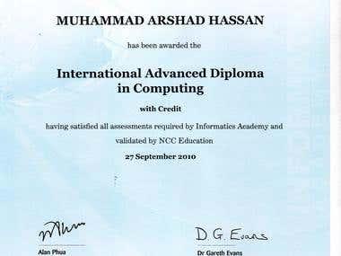 International Advanced Diploma in Computing
