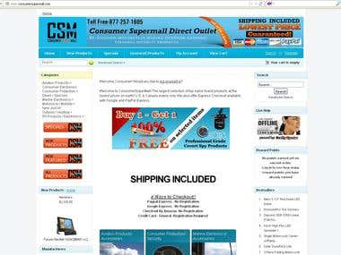 Product uploading for Consumersupermall.com