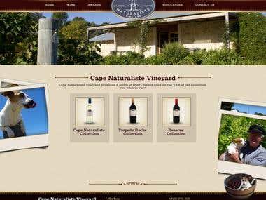 Webdesigns for capenaturalistevineyard