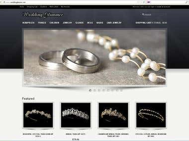 Data/Product uploading, Image editing for Weddingglimmer.com