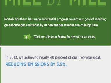 Banner for reducing emission