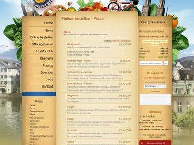eCommerce Pizza delivery site