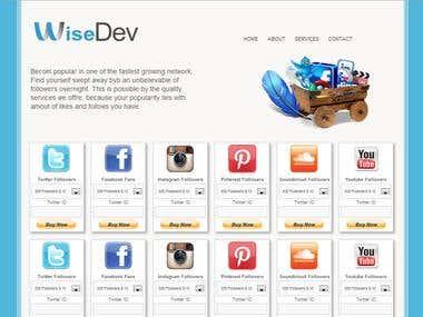 Design graphique home page