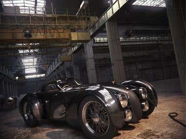 Bugatti T 41 sport car