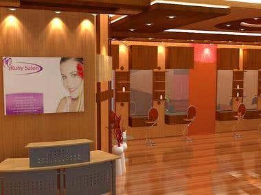 Parlour / Saloon Interior Design