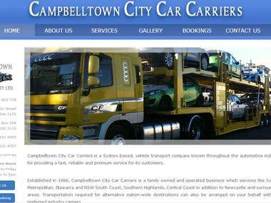 Cross platform website for transport company
