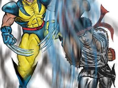 Ryu vs Wolverine