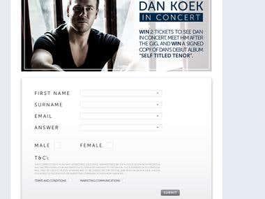 Daniel Koek Social Media Rebrand and Bespoke Facebook App