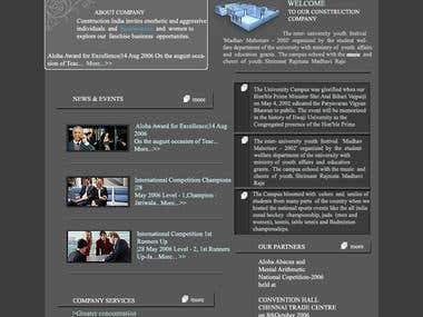 web page layout design