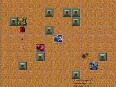 Dune style RTS simulation