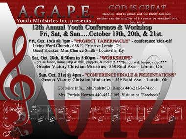 AGAPE Hotcard/Flyer Design