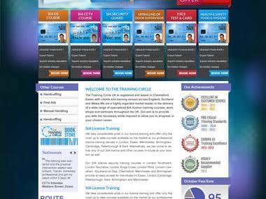 The Training Circle Web Site Design