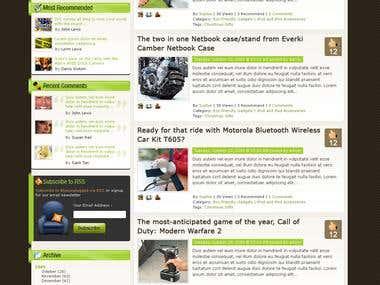 Blog community web site