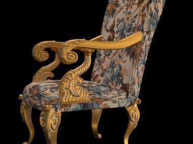 Model of a chair