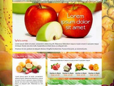 Healthy fruits website