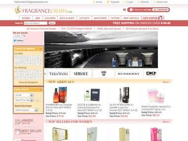 Fragrancecrush.com (Custom PHP eCommerce Website)