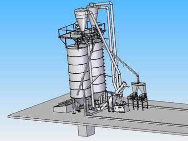 Plant for milling grain