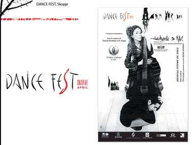Poster and Logo, Dance Fest Skopje
