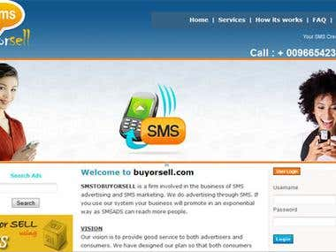 SMS and ADS website