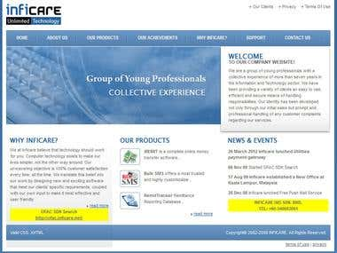 Inficare Software Development Company Website