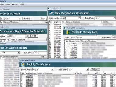 Payroll System - Reports
