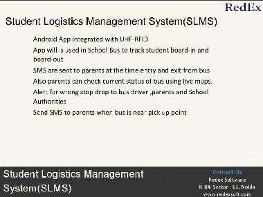 Student Logistic Management System