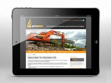 Webdesign and development for the demolition company