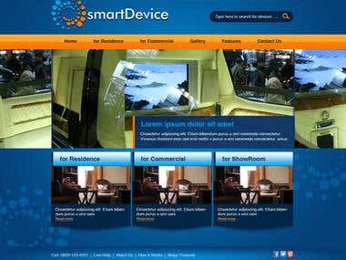 Website Mockup for SmartDevice