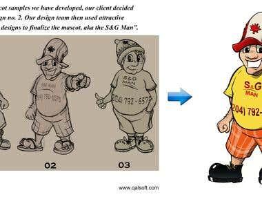 Mascot Design by Qalsoft Inc.