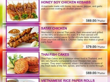 Food Menu & Newsletter Designs