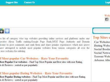 Top website List