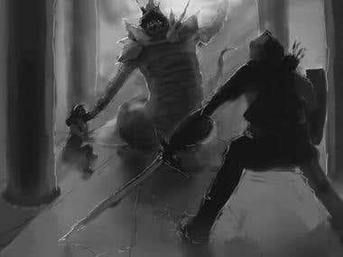 Fantasy concept sketch