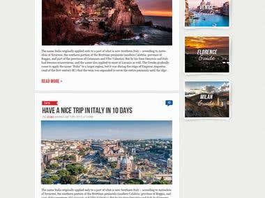 Travelling bilingual website